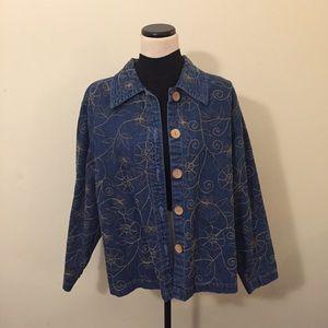 Oversized Floral Embroidered Jacket